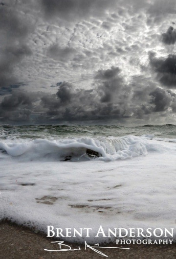 Sea foam vs. Clouds - Palm Beach, FL