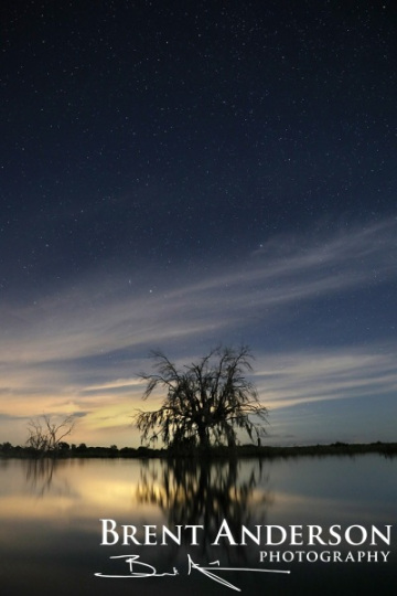 Midnight Reflections - Kissimmee River Okeechobee, FL